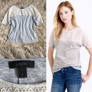 LIKE NEW! J. Crew Embroidered Eyelet Lace Top